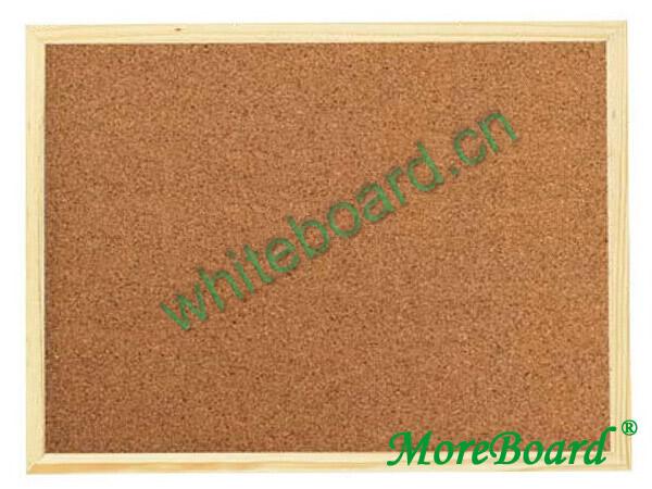 Wood Framed Natural Cork Pinboard
