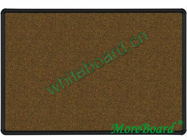 A Framed Fabric Surface Felt Board