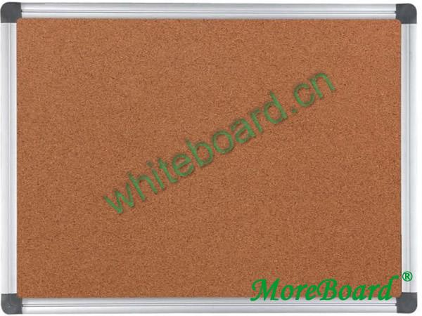 Natural Cork Board Aluminum Frame