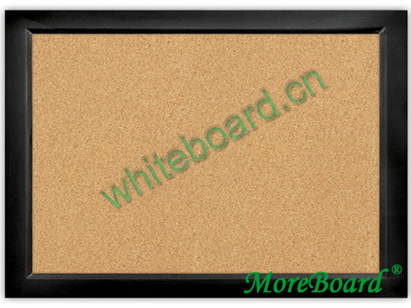 Black Eco-Friendly Wooden Frame Corkboard