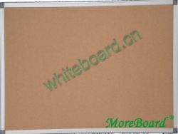 Satin-Finished Aluminum Frame Corkboard