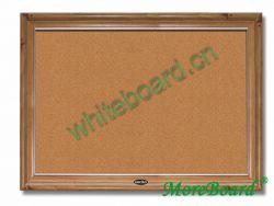 Large Wooden Framed Cork Pin Board