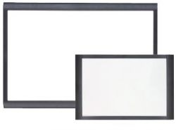 Black Wood Frame Dry Wipe Board