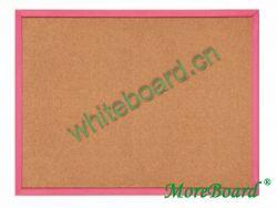Red Wood Frame Cork Bulliten Board