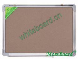 Satin-Finished Aluminum Frame Corkboard